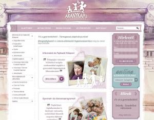 Aranykapu Gyermekház Honlapja