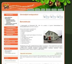 Növényvédő és Kártevőirtó Weboldal